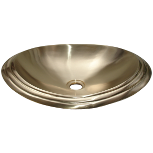 Cast Bronze Sink Oval Shiny Yellow