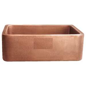 Hammered Front Copper Farmhouse Sink