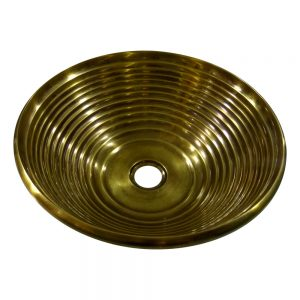 Cast Bronze Sink Round Antique Bronze Finish