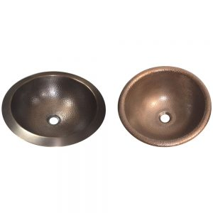 Hammered Antique Copper Bowl Sink