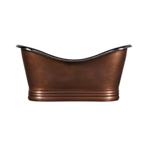 Nickel Interior Copper Bathtub
