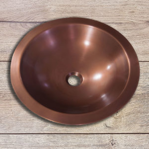 Copper Sink Double wall Outside Hammered